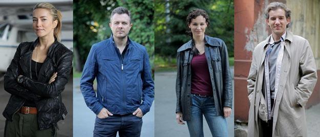 """Gwiazdy serialu """"Na krawędzi"""": Kamilla Baar, Marek Bukowski, Maja Hirsch i  Przemysław Sadowski /Polsat"""