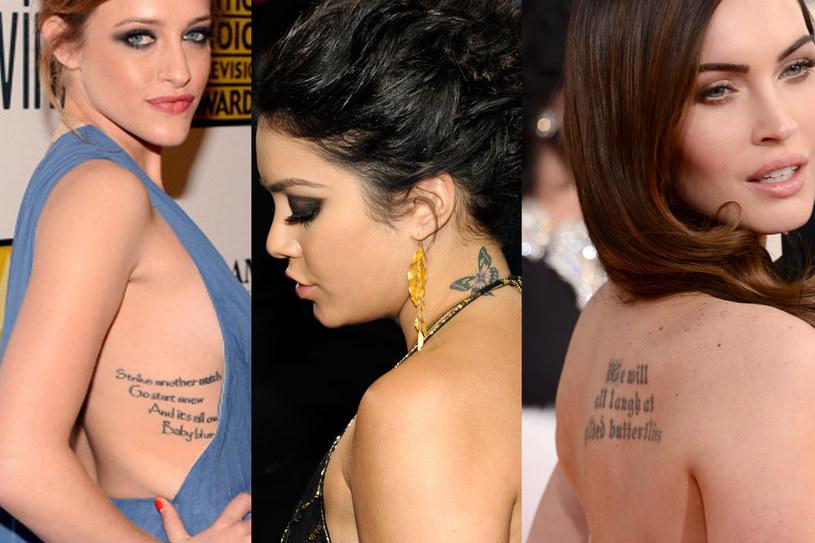 Gwiazdy szczególnie upodobały sobie tatuaże na żebrach, łopatyce lub karku /Getty Images