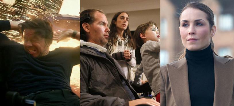 """Gwiazdy tygodnia: Mark Wahlberg (""""Transformers: Ostatni rycerz""""), Steve Gleason (""""Gleason) i Naomi Rapace (""""Tożsamość zdrajcy"""") /materiały dystrybutora"""