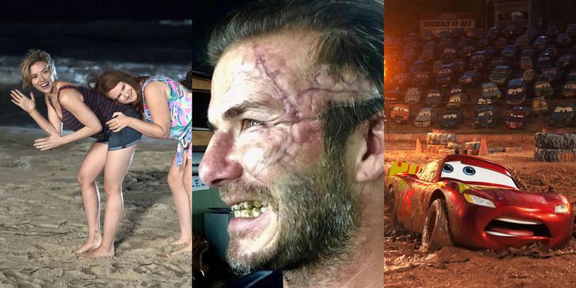 """Gwiazdy tygodnia: Scarlett Johansson (""""Ostra noc""""), David Beckham (""""Król Artur: Legenda miecza"""") i Zygzak McQueen (""""Auta 3"""") /materiały dystrybutora"""