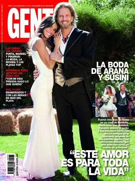 Facundo Arana (z żoną) obecnie