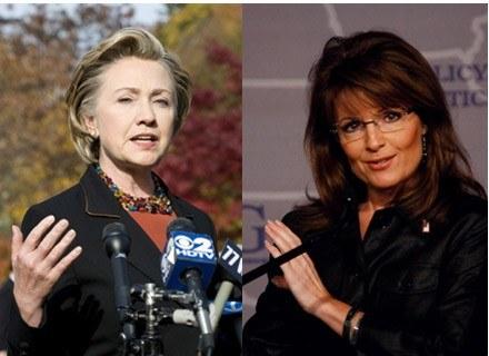 H. Clinton i S. Palin. Czy któraś z nich zostanie jeszcze prezydentem USA? /AFP