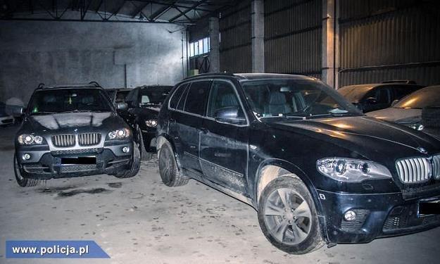 Hala, w której przechowywano skradzione auta /Policja