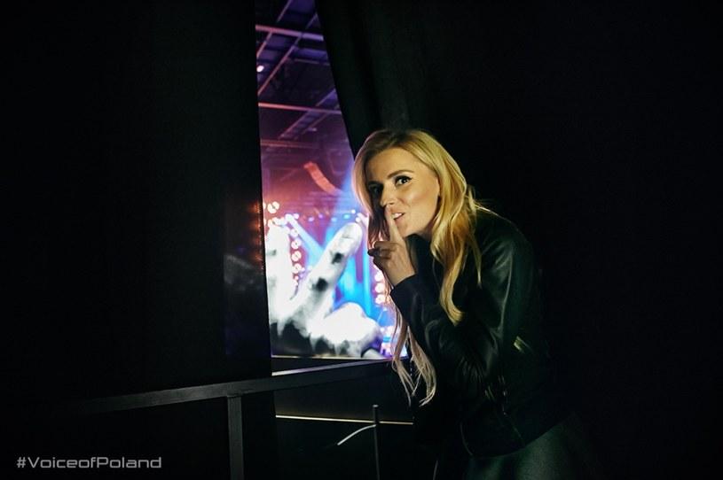 "Halinka Mlynkova na planie programu ""The Voice of Poland"", fot. Bartek Szmigulski /TVP"