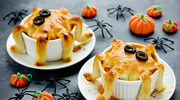 Halloweenowe muffinki serowe w kształcie ośmiorniczek