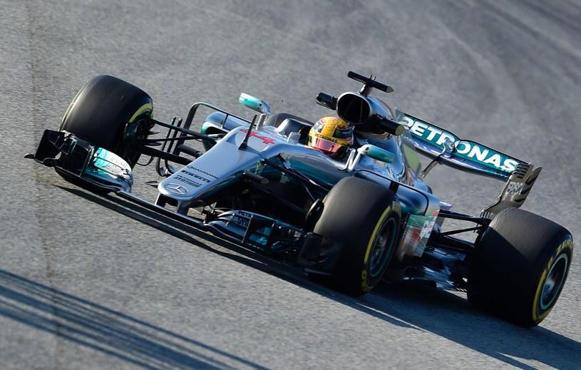Hamilton na torze Catalunya /AFP