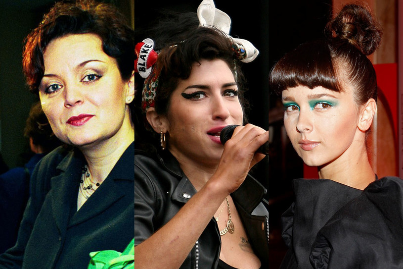 Hanna Banaszak (1990), Amy Winehouse (2005), Monika Brodka (2014)/ fot. Reporter, Krzysztof Wojda/Getty Images/ AKPA, Damian Grabarski /Styl.pl