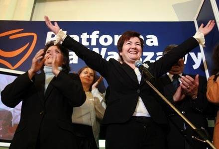 Hanna Gronkiewicz-Waltz liczy na korzystny wyrok sądu /AFP