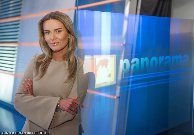 "Hanna Lis w studiu ""Panoramy"" /Jacek Dominski/REPORTER /East News"