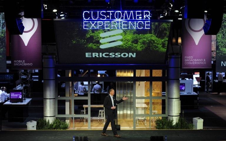 Hans Vestberg, CEO firmy Ericsson, opowiada o nowych rozwiązaniach szwedzkiej firmy podczas konferencji w Barcelonie /AFP