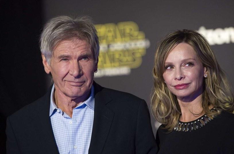 Harrison Ford i jego żona Calista Flockhart /AFP