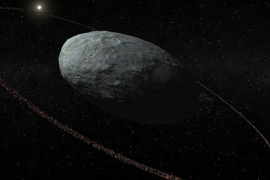 Haumea - jajowata, z pierścieniem /IAA-CSIC/UHU /Materiały prasowe