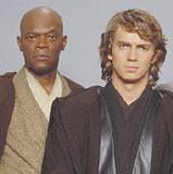 Hayden Christensen i Samuel L. Jackson jako Anakin Slywalker i Mace Windu /INTERIA.PL