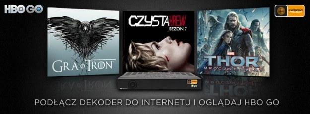 HBO GO to kolejny serwis online z treściami premium w dekoderach abonentów platformy Cyfrowego Polsatu /materiały prasowe