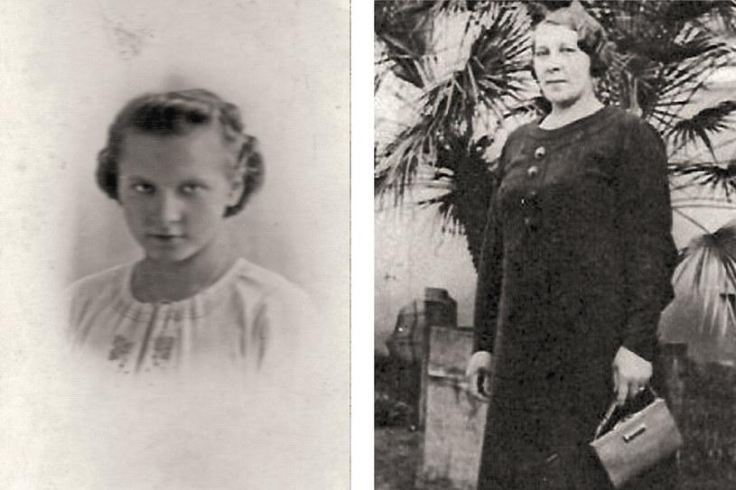 Henia w wieku pietnastu lat, 1941 rok i Maria Banaszak, mama Wiry /archiwum prywatne