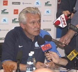 Henryk Kasperczak na konferencji przed meczem z Legią /INTERIA.PL