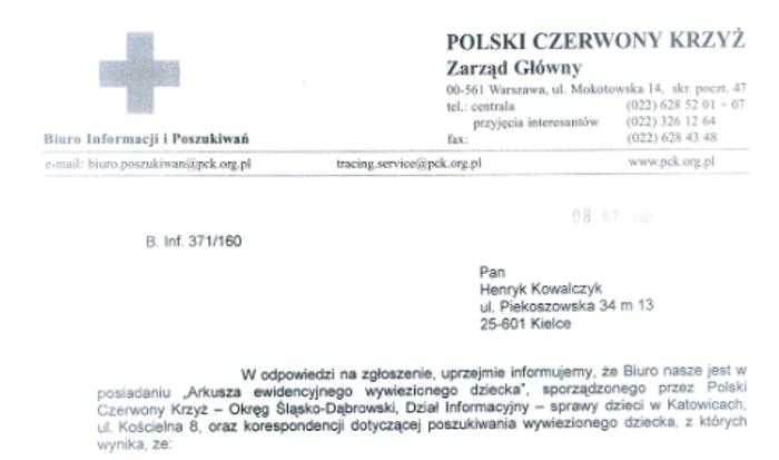 Henryk Kowalczyk składał zapytania do Międzynarodowego Czerwonego Krzyża /INTERIA.PL