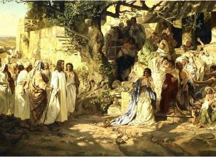 Henryk Siemiradzki, Chrystus i jawnogrzesznica, olej, płótno, 145 x 240 cm /Sztuka.pl