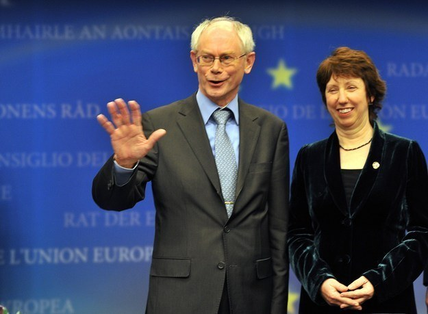 Herman Van Rompuy i Catherine Ashton /AFP