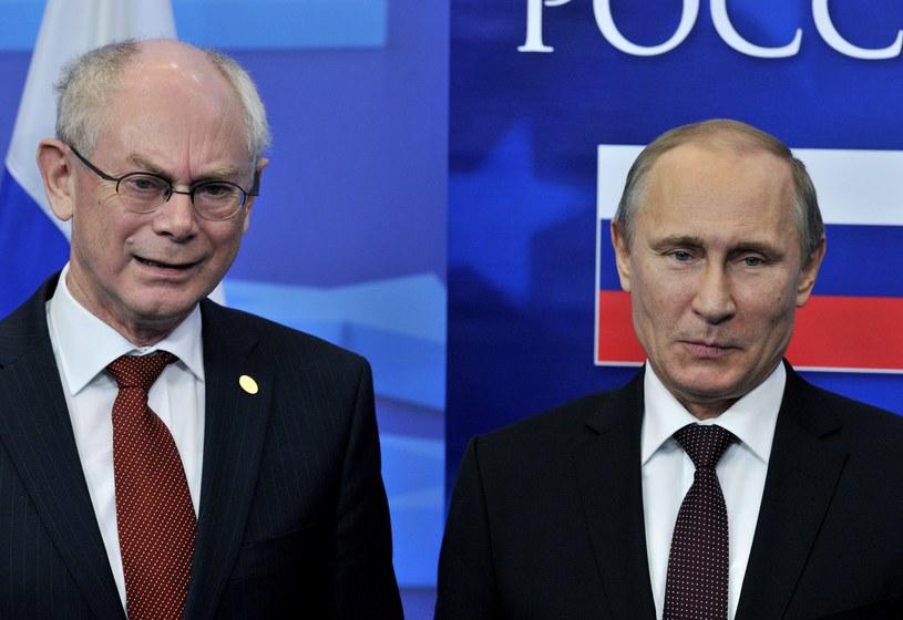 Herman Van Rompuy spotkał się z Putinem. /GEORGES GOBET /AFP