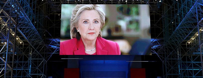 Hillary Clinton nie zabrała głosu po ogłoszeniu wyników /AFP