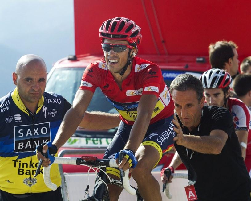 Hiszpański kolarz Alberto Contador /AFP