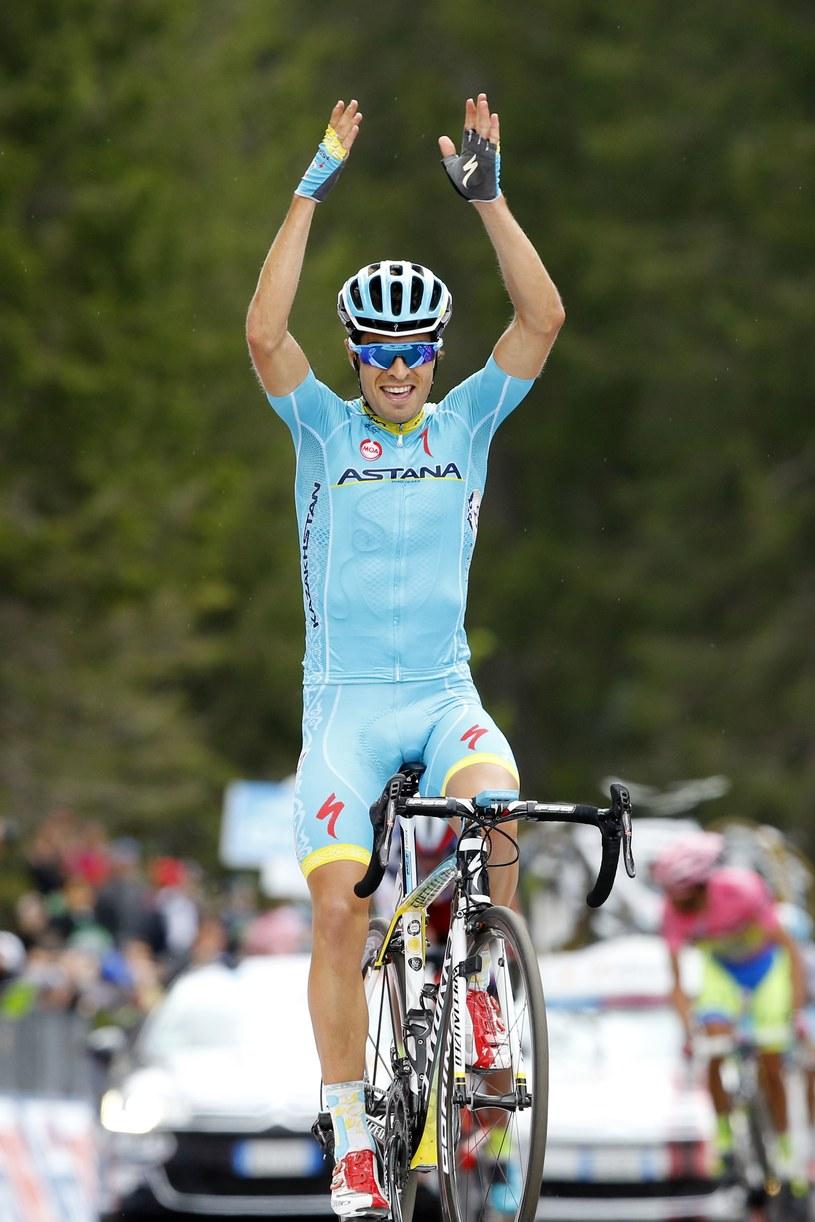 Hiszpański kolarz Mikel Landa /AFP