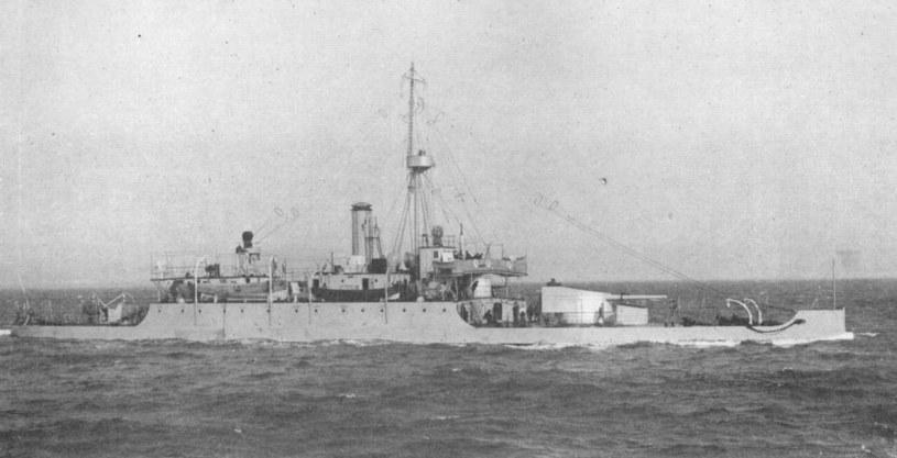 """HMS """"Mersey"""" na początku Wielkiej Wojny /Wikimedia Commons /INTERIA.PL/materiały prasowe"""