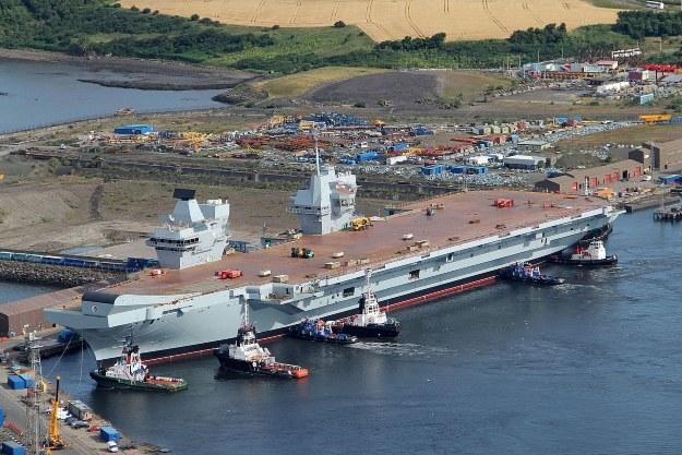 "HMS ""Queen Elizabeth"".   Fot. defenceimagery.mod.uk /materiały prasowe"