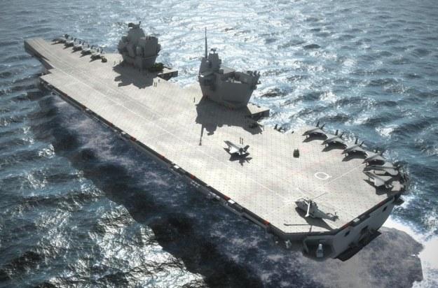 HMS Queen Elizabeth - wizualizacja.  Fot. BAE Systems /materiały prasowe