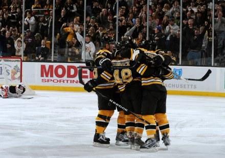 Hokeiści Boston Bruins/fot. Steve Babineau /Getty Images/Flash Press Media