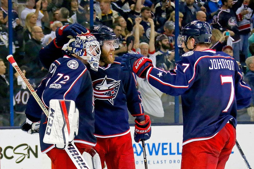 Hokeiści Columbus Blue Jackets /AFP