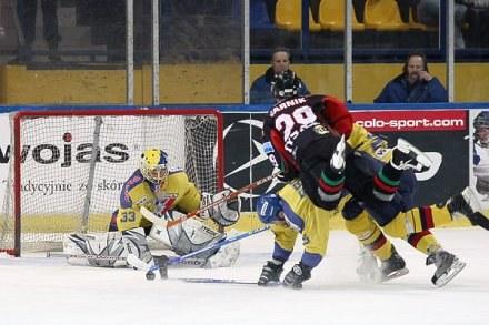 Hokeiści GKS Tychy wygrali z Wojasem Podhale 5:1 Fot. Tadeusz Bącal /INTERIA.PL