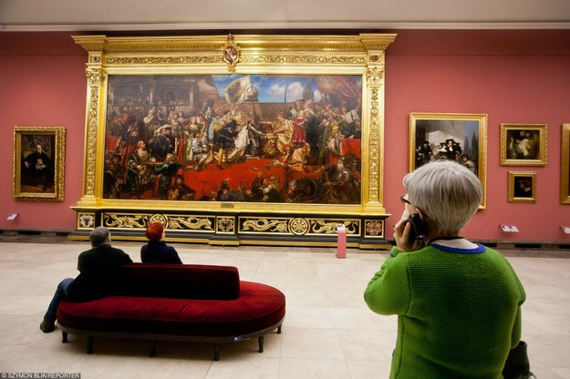 Hołd pruski na obrazie Jana Matejki w Muzeum Narodowym w Sukiennicach w Krakowie/fot. Szymon Blik /Reporter