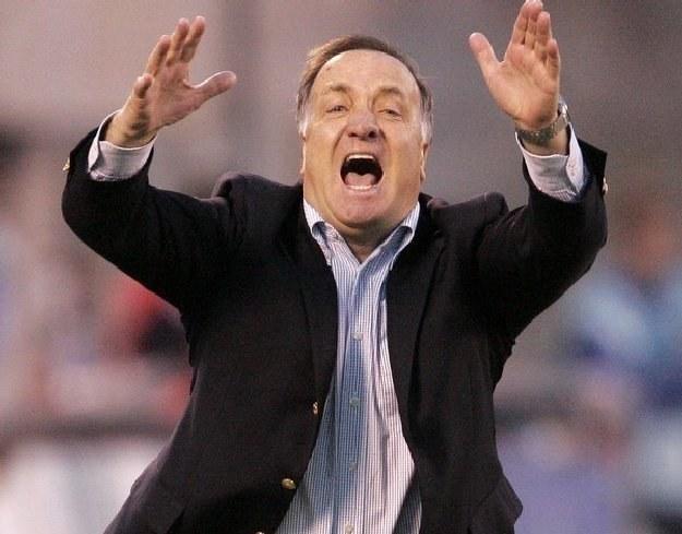 Holenderski trener Dick Advocaat przejął prowadzenie reprezentacji Rosji /AFP