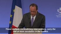 Hollande: Turecka interwencja w Syrii może przyczynić się do eskalacji konfliktu