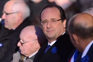 Hollande wygwizdany przy składaniu hołdu poległym w I wojnie