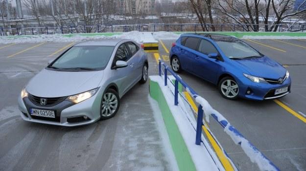 Honda Civic i Toyota Auris, czyli dwa japońskie samochody o zupełnie różnych charakterach, należące do klasy kompakt. /Motor
