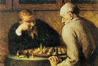 Honoré Daumier, Grający w szachy, ok. 1863-65 /Encyklopedia Internautica