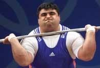 Hossein Rezazadeh podczas udanej próby