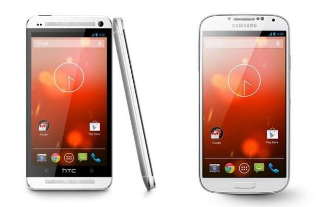 HTC One i Samsung Galaxy S4 Google Play Edition /materiały prasowe