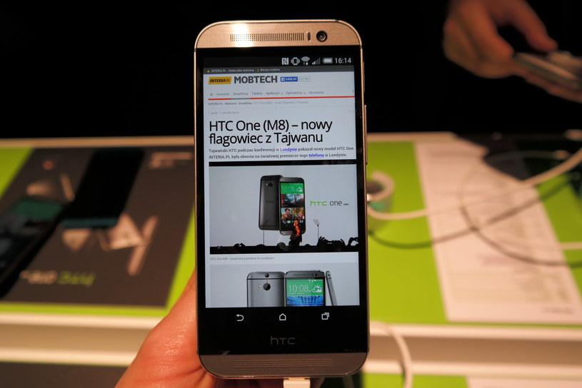 HTC One M8 - zdjęcie z światowej premiery smartfonu /INTERIA.PL