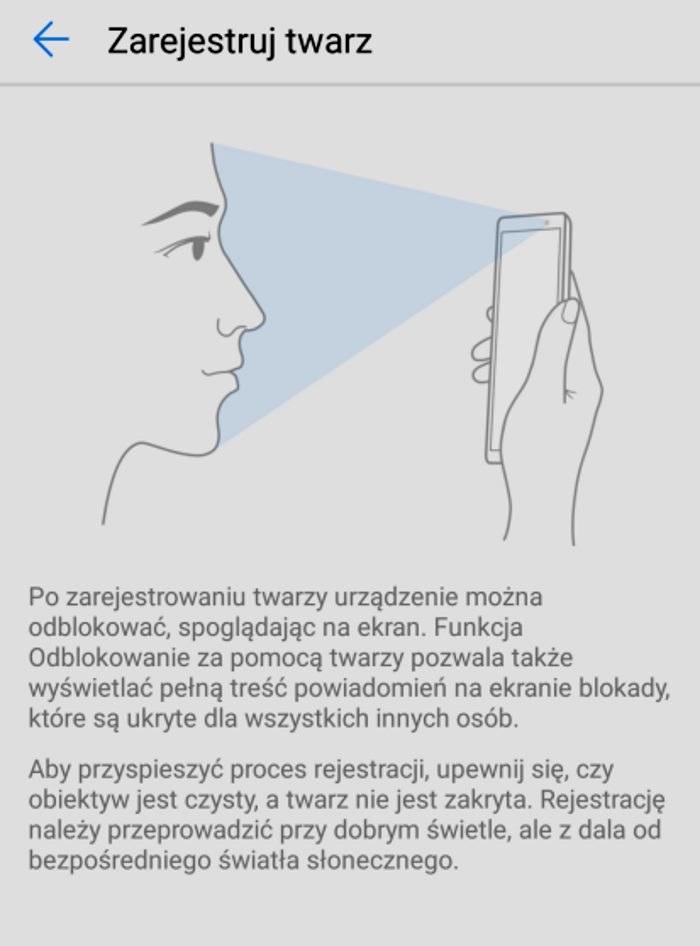 Huawei Mate 10 lite - rozpoznanie twarzy /materiały prasowe