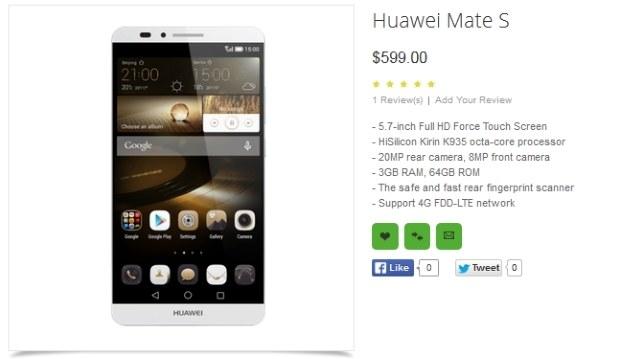 Huawei Mate S /materiały prasowe