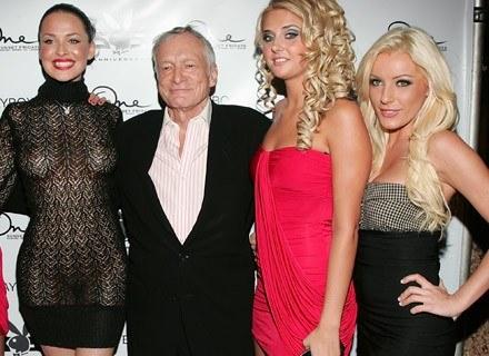 """Hugh Hefner, założyciel """"Playboya"""", grudzień 2008. Ma 82 lata i ma się dobrze /Getty Images/Flash Press Media"""