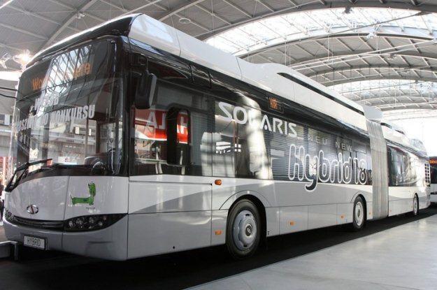 Hybrydowy autobus Solarisa / Fot: Wojciech Traczyk /Agencja SE/East News