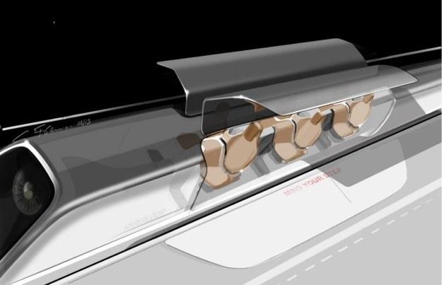 Hyperloop - wizualizacja. Fot. SpaceX /materiały prasowe