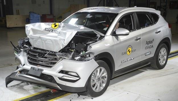 Hyundai Tucson po crash teście /Euro NCAP
