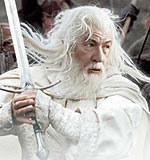 "Ian McKellen jako Gandalf w filmie ""Powrocie Króla"" /INTERIA.PL"