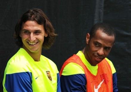 Ibrahimović wraz z Henrym i Messim chce stworzyć wspaniały atak FC Barcelona /AFP